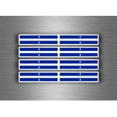 4x Autocollant Sticker Voiture Moto Stripes Drapeau Tuning Quebec