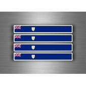 4x Autocollant Sticker Voiture Moto Stripes Drapeau Tuning Anguilla