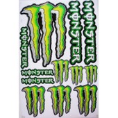 Planche Autocollant Stickers Monster Energy - 11 Pieces