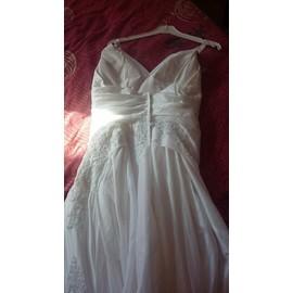 Robe De Mari�e Morelle �lisa Satin 38 Blanc