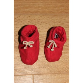 Chaussons Naissance Rouge