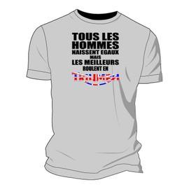 Tee-Shirt Tous Les Hommes Naissent �gaux Mais Les Meilleurs Roulent En Triumph - Drapeau Anglais