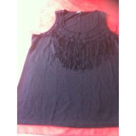T-Shirt � Frange T Xl Noir Comme Neuf