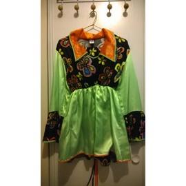 D�guisement Hippies Orange Et Vert Pour Femme