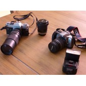 Canon Ftb + Canon Eos 3000v + Objectif Canon 35mm + Objectif 28/80 + T�l�objectif 100/300 + Flash