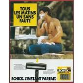 Publicit� Papier - Rasoir Schick De 1986