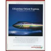 Publicit� Papier - Cathay Pacific - Paris - Hong Kong De 1986