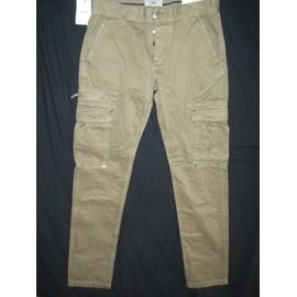 Pantalon Celio Slim Fit Kaki Cargo / Battle Coton 38 Kaki
