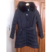 Manteau Avec Fourrure Noir M/L
