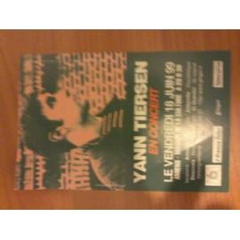 Prospectus Yann Tiersen en concert - 18 juin 99 Amiens