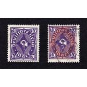Lot 2 Dienstmarke 20 Pfennig (Deutsches Reich)