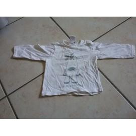 T-Shirt Zara Coton 3 Mois Blanc