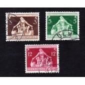 Lot 3+5+12 Pfennig 6e International Gemeindekongress 1936 (Deutsches Reich)