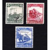Lot 6+12+25 Pfennig 100 Jahre Deutsche Eisenbahn 1935 (Deutsches Reich)