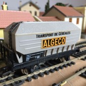 Wagon Tremie Transport De Cereales Algeco Ho 1/87eme