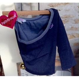 Bustier Pepito Micorazon Petit Haut Couleur Jean Neuf Coton Unique Bleu P�trole
