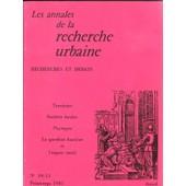 Les Annales De La Recherche Urbaine N� 10/11 de divers