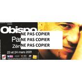 Flyer Pascal Obispo Z�nith Paris 2001