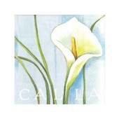 1 Paquet De 20 Serviettes En Papier Fleurs : Calla - Serviette De 33x33cm - Serviettage