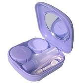 Yarui-World� Bleu Etui Bo�te Coffret Rangement Lunette Lentille Contact Lens Case Avec Miroir Voyage Portable Neuf