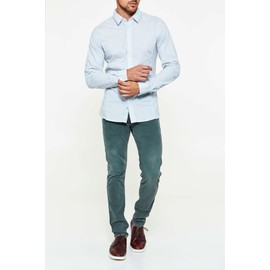 Chemise Guess Jeans Allover Blanc Bleu Homme