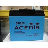 Acedis Std19 Batterie Au Plomb �tanche 12v 19ah Rechargeable