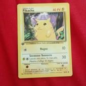 Carte Pokemon De Base Pikachu Premi�re �dition
