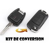 Kit De Transformation Cle Plip Pour Opel Astra Meriva Vectra Zafira Omega Signum Frontera 3 Boutons Coque Telecommande Conversion @Pro-Plip