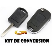 Kit De Transformation Cle Plip Pour Opel Agila Meriva Astra Corsa Zafira Vectra C Combo 2 Boutons Coque Telecommande Conversion @Pro-Plip