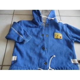 Veste Funny Veste Courte Coton 18 Mois Bleu