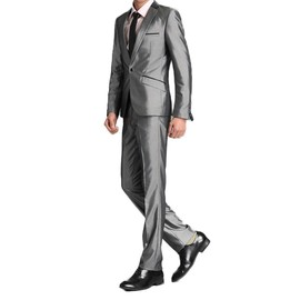 Costume Hommes Mariage 2 Pi�ces Costume Chic Seul Bouton Mode V�tements Formels
