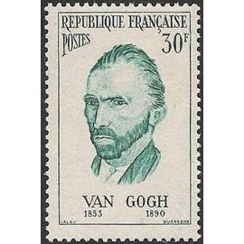 france 1956, bel exemplaire neuf**/* yvert 1087, van gogh, peintre flamant.
