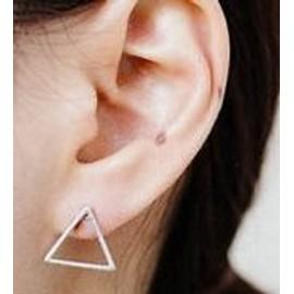 Boucles D'oreilles Femme Dor�/Argent� Triangle, Bo0065