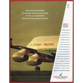 Publicit� Papier - Cathay Pacific - Paris-Hong Kong De 1993