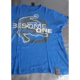 T-Shirt Besomeone Taille L Bleu Dur Manches Courtes