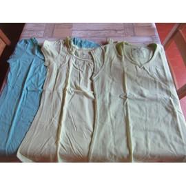 T-Shirt Randonn�e D�cathlon Domyos Coton S Vert Clair