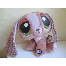 Doudou Peluche Chien Rose Littlest Petshop Hasbro