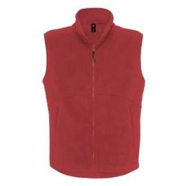 Gilet Polaire Sans Manches - Bodywarmer Fleece Traveller Plus - Rouge