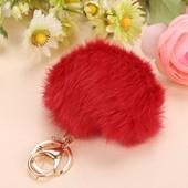 Porte-Cl�s De Charme Keychain Key Ring Mode Mignon 6 Couleurs Forme Boule De Fourrure Douce Pour Sac � Main/ T�l�phone Portable/Voiture