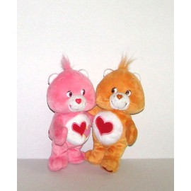 Bisounours Gros Calin Coeur Rouge Et Rose Bisounours Rose Et Orange Peluche Doudou Care Bears18cm