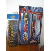 Kit Scolaire Spider-Man*Marvel:Trousse-Crayon-R�gle-Taille.C+ Paquet 8 Crayons Pokemon