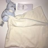 Doudou Chien Bleu Mouchoir Blanc Marks And Spencer Peluche Bebe Naissance Jouet M&s Baby Soft Toy Dog