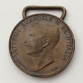 M�daille Bronze Vittorio Emanuele Iii Re D'italia - Unita D'italia 1848-1918