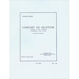 concert en quatuor (entrée, fugue, menuet, passepied, air, final) pour quatuor de saxophones