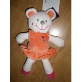 Doudou Peluche Ours Bear Teddy Souris Mouse M�use Maus Blanc Rose Volant Robe Orange Dessin Brod� Oiseau Kiabi Nicotoy Kitchoun