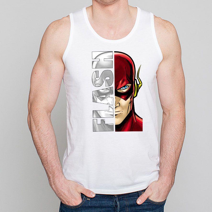D�bardeur Homme Blanc Super-H�ros Flash