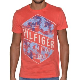 Tommy Hilfiger - Tshirt Manches Courtes - Homme - Th 04 Felix - Rouge