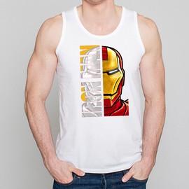 D�bardeur Homme Blanc Super-H�ros Iron Man