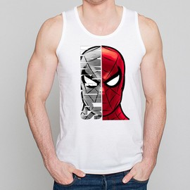D�bardeur Homme Blanc Super-H�ros Spiderman