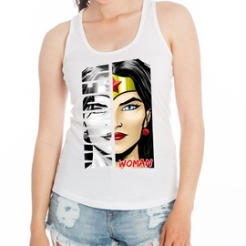 D�bardeur Femme Blanc Super-H�ros Wonder Woman